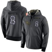 Wholesale Cheap NFL Men's Nike Tennessee Titans #8 Marcus Mariota Stitched Black Anthracite Salute to Service Player Performance Hoodie