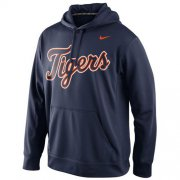 Wholesale Cheap Detroit Tigers Nike Men's KO Wordmark Perfomance Navy MLB Hoodie