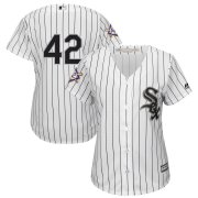 Wholesale Cheap Chicago White Sox #42 Majestic Women's 2019 Jackie Robinson Day Official Cool Base Jersey White