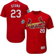 Wholesale Cheap Cardinals #23 Marcell Ozuna Red Flexbase Authentic Collection Stitched MLB Jersey