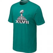 Wholesale Cheap NFL Super Bowl XLVII Logo T-Shirt Green