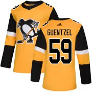 Wholesale Cheap Adidas Penguins #59 Jake Guentzel Gold Alternate Authentic Stitched NHL Jersey