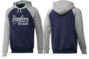 Wholesale Cheap New York Yankees Pullover Hoodie Dark Blue & Grey