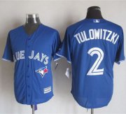 Wholesale Cheap Blue Jays #2 Troy Tulowitzki Blue New Cool Base Stitched MLB Jersey