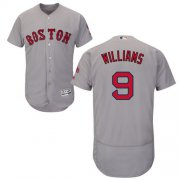 Wholesale Cheap Red Sox #9 Ted Williams Grey Flexbase Authentic Collection Stitched MLB Jersey