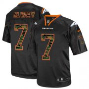 Wholesale Cheap Nike Broncos #7 John Elway Black Men's Stitched NFL Elite Camo Fashion Jersey