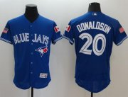 Wholesale Cheap Blue Jays #20 Josh Donaldson Blue Fashion Stars & Stripes Flexbase Authentic Stitched MLB Jersey