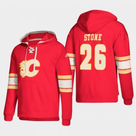 Wholesale Cheap Calgary Flames #26 Michael Stone Red adidas Lace-Up Pullover Hoodie