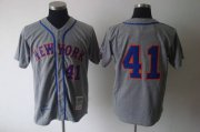 Wholesale Cheap Mitchell and Ness 1969 Mets #41 Tom Seaver Grey Stitched MLB Jersey