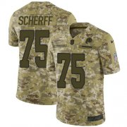 Wholesale Cheap Nike Redskins #75 Brandon Scherff Camo Youth Stitched NFL Limited 2018 Salute to Service Jersey