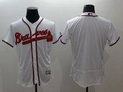 Wholesale Cheap Braves Blank White Flexbase Authentic Collection Stitched MLB Jersey