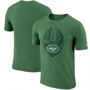 Wholesale Cheap Men's New York Jets Nike Green Fan Gear Icon Performance T-Shirt