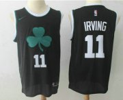 Wholesale Cheap Men's Boston Celtics #11 Kyrie Irving Black 2017-2018 Nike Swingman Stitched NBA Jersey