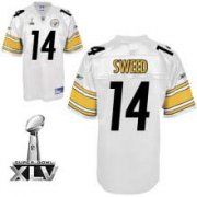 Wholesale Cheap Steelers #14 Limas Sweed White Super Bowl XLV Stitched NFL Jersey