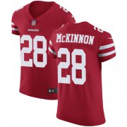 Wholesale Cheap Nike 49ers #28 Jerick McKinnon Red Team Color Men's Stitched NFL Vapor Untouchable Elite Jersey