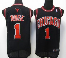 Wholesale Cheap Chicago Bulls #1 Derrick Rose Black Swingman Jersey