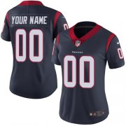 Wholesale Cheap Nike Houston Texans Customized Navy Blue Team Color Stitched Vapor Untouchable Limited Women's NFL Jersey