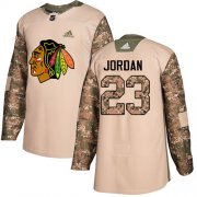 Wholesale Cheap Adidas Blackhawks #23 Michael Jordan Camo Authentic 2017 Veterans Day Stitched NHL Jersey