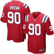 Wholesale Cheap Nike Patriots #90 Malcom Brown Red Alternate Youth Stitched NFL Elite Jersey