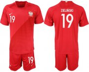 Wholesale Cheap Poland #19 Zielinski Away Soccer Country Jersey