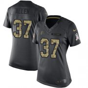 Wholesale Cheap Nike Falcons #37 Ricardo Allen Black Women's Stitched NFL Limited 2016 Salute to Service Jersey