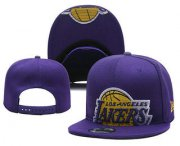 Wholesale Cheap Men's Los Angeles Lakers Snapback Ajustable Cap Hat 3