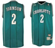 Wholesale Cheap Charlotte Hornets #2 Larry Johnson Green Swingman Throwback Jersey