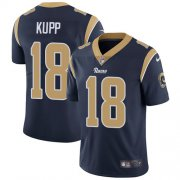 Wholesale Cheap Nike Rams #18 Cooper Kupp Navy Blue Team Color Youth Stitched NFL Vapor Untouchable Limited Jersey