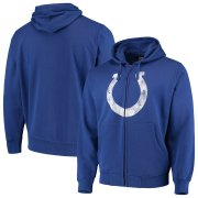 Wholesale Cheap Indianapolis Colts G-III Sports by Carl Banks Primary Logo Full-Zip Hoodie Royal