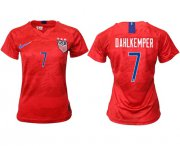 Wholesale Cheap Women's USA #7 Dahlkemper Away Soccer Country Jersey