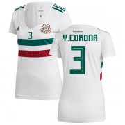Wholesale Cheap Women's Mexico #3 Y.Corona Away Soccer Country Jersey