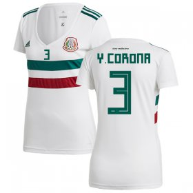 Wholesale Cheap Women\'s Mexico #3 Y.Corona Away Soccer Country Jersey
