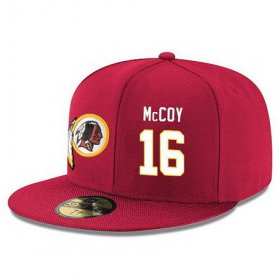 Wholesale Cheap Washington Redskins #16 Colt McCoy Snapback Cap NFL Player Red with White Number Stitched Hat