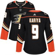 Wholesale Cheap Adidas Ducks #9 Paul Kariya Black Home Authentic Women's Stitched NHL Jersey