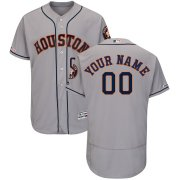 Wholesale Cheap Houston Astros Majestic Road Flex Base Authentic Collection Custom Jersey Gray