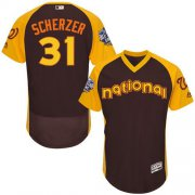 Wholesale Cheap Nationals #31 Max Scherzer Brown Flexbase Authentic Collection 2016 All-Star National League Stitched MLB Jersey