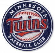 Wholesale Cheap Stitched MLB Minnesota Twins Round Logo Sleeve Patch (2010)