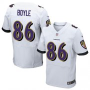 Wholesale Cheap Nike Ravens #86 Nick Boyle White Men's Stitched NFL New Elite Jersey