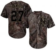 Wholesale Cheap Mets #27 Jeurys Familia Camo Realtree Collection Cool Base Stitched MLB Jersey