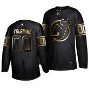 Wholesale Cheap Adidas Devils Custom Men's 2019 Black Golden Edition Authentic Stitched NHL Jersey