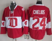 Wholesale Cheap Red Wings #24 Chris Chelios Red Winter Classic CCM Throwback Stitched NHL Jersey
