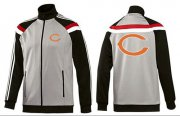 Wholesale NFL Chicago Bears Team Logo Jacket Grey