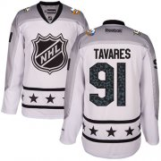 Wholesale Cheap Islanders #91 John Tavares White 2017 All-Star Metropolitan Division Stitched NHL Jersey