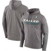 Wholesale Cheap Men's Philadelphia Eagles Nike Gray Sideline Circuit Pullover Performance Hoodie