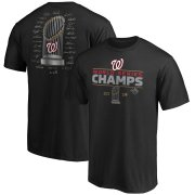 Wholesale Cheap Washington Nationals Majestic 2019 World Series Champions Signature Roster T-Shirt Black
