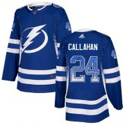 Wholesale Cheap Adidas Lightning #24 Ryan Callahan Blue Home Authentic Drift Fashion Stitched NHL Jersey