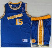 Wholesale Cheap Golden State Warriors #15 Latrell Sprewell Blue Hardwood Classics NBA Jerseys Shorts Suits