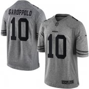 Wholesale Cheap Nike 49ers #10 Jimmy Garoppolo Gray Men's Stitched NFL Limited Gridiron Gray Jersey