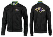 Wholesale NFL Baltimore Ravens Team Logo Jacket Black_4