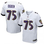 Wholesale Cheap Nike Ravens #75 Jonathan Ogden White Men's Stitched NFL New Elite Jersey